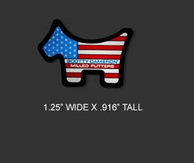 2021 Scotty Cameron US Open Sticker Red White Blue USA Scotty Dog Sticker Small