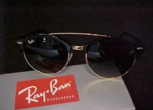 d1004627d71 BRAND NEW AUTHENTIC RAY-BAN CLUB-ROUND DOUBLE BRIDGE SUNGLASSES