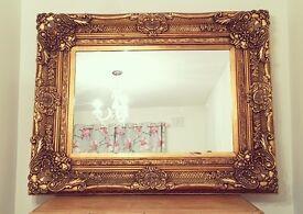 Stunning large ornate mirror solid wood