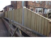 💥New Flat Top Feather Edge Fence Panels • Excellent Quality • Wooden • Pressure Treated