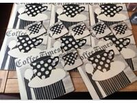 8 table mats and 6 coasters