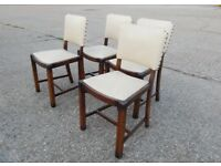 4 retro dining room chairs