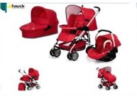 Car seat pushchair and travel cot - Hauck Condor Trio Set Red Travel System