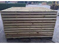 🛠Heavy Duty Wayneylap Fence Panels New • Pressure Treated Wooden