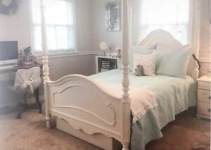 Full/double sized girls bed frame with matching trundle