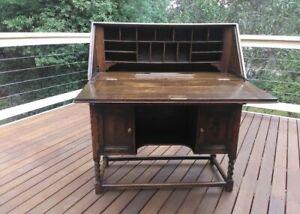 1940s British Desk solid hardwood delivery possible