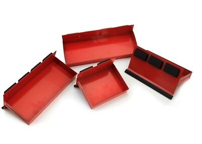 4pc Magnetic Tool Tray Shelf Toolbox Set Bin Storage Cabinet Van Workshop NEW
