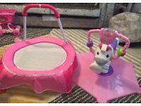 Kids/toddler trampoline & bouncer