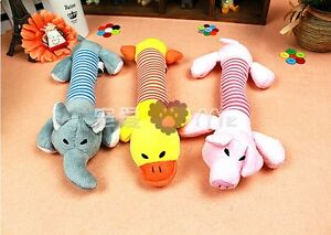 Pets-Dogs-Gift-Squeaky-Squeaker-Sound-Plush-Stuffed-Play-Toys-Pig-Elephant-ZBT