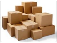 Moving Boxes and bubble wrap etc