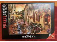 Biking in Tuscany 1000 Piece Jigsaw Puzzle