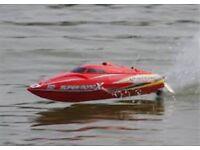 2X Joysway super mono x brushless self righting rc boat (very fast)
