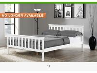 *KING SIZE WHITE WOODEN BED FRAME*