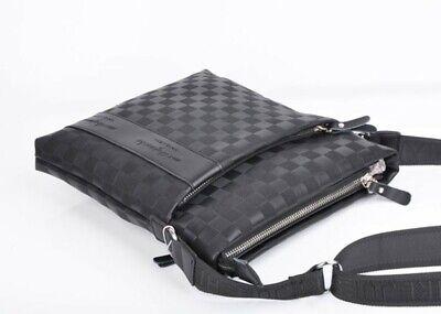 Casual Men's Leather Crossbody Messenger Bag Shoulder Bags Satchel Purse