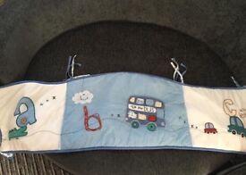 Boys cot bumper set (4piece)