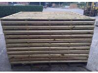 ☄️Heavy Duty Wooden Wayneylap Fence Panels New • Pressure Treated