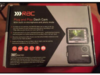 RAC HD DASH CAM Brand New In Box With 125' Wide Angle HD 720p Video Quality