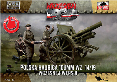1//72 First to fight PL1939-060 Polish field gun 100mm wz.14//19 with DS wheels