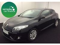ONLY £162.64 PER MONTH BLACK 2012 RENAULT MEGANE 1.5 DYNAMIQUE TOM TOM 3 DOOR