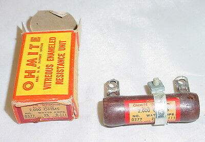 Nos Ohmite Dividohm Adjustable Resistor - 2000 Ohms 25 Watts. 0.111 Amps