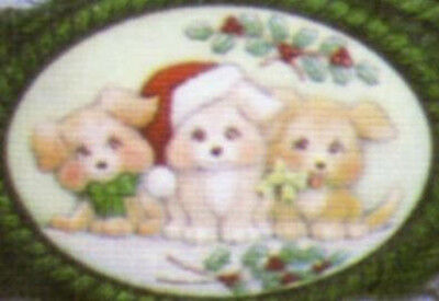 Ceramic Bisque Ready to Paint Christmas Puppies insert ~FREE SHIPPING in USA