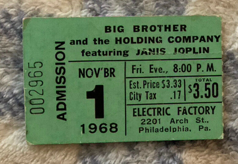 jANIS jOPLIN - BIG BROTHER & THE HOLDING COMPANY 11/1/1968 PHILLY ELEC FACTORY