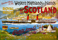 Royal Route - Scotland - Western Highland And Island Travel A3 Art Poster Print -  - ebay.co.uk