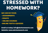 Homework and assignments done by experts!