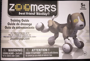 zoomer interactive dog instructions