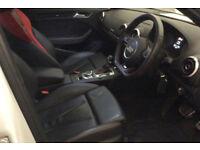 White AUDI S3 SALOON 2.0 T FSI Petrol QUATTRO FROM £98 PER WEEK!