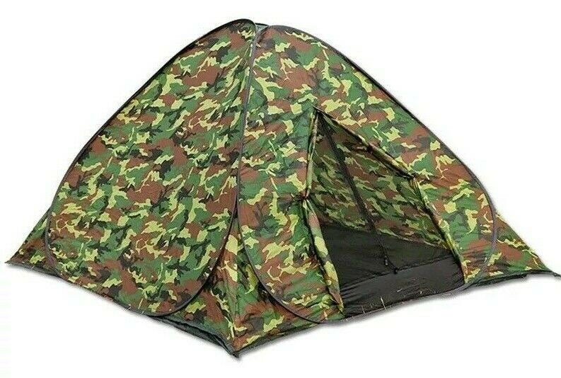 hot sale online ffbc2 058ce 3-4 Man Person Auto Pop Up Tent Outdoor Festival Camping Travel Beach Family