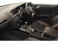 White AUDI A4 SALOON 1.8 2.0 TDI Diesel BLACK EDITION FROM £77 PER WEEK!