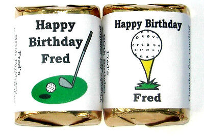 60 GOLF BIRTHDAY OR ANY OCCASION CANDY WRAPPERS FAVORS
