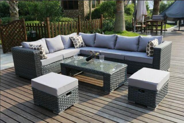 Garden Furniture 8 Seater conservatory modular 8 seater rattan corner sofa set garden