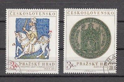 TSCHECHOSLOWAKEI, 1973 Prager Burg 2141-42 gestempelt, (25843)