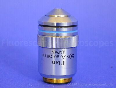 Olympus Plan 50x 0.90 Inf-. Oil Iris Darkfield Microscope Objective Lens