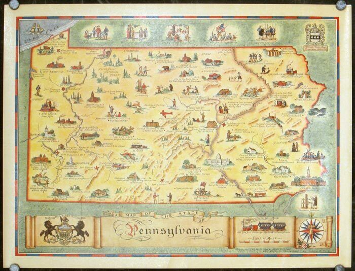 A Map of the State of Pennsylvania / 1930