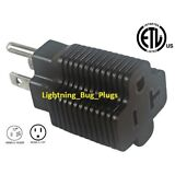 NEW! Male 15 Amp to 20 Amp Female Plug T-Blade Adapter 3 Prong Outlet ETL Listed