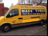 TOP QUALITY MOBILE TYRE FITTING SERVICE, TYRES FITTED AT YOUR HOME IN OUR MOBILE VAN PART WORN & NEW