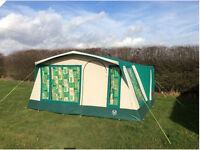 LARGE SUNCAMP PALACE 6 BERTH FAMILY CANVAS FRAMED TENT