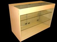 Shop Glass Counter 1200mm- MAPLE Finish/Ref: 0303