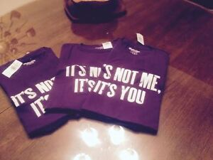 """4 BLUENOTE TEE SHIRTS """" ITS NOT ME ITS YOU"""