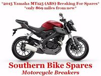 2015 Yamaha MT125 ABS (869 miles) *Breaking For Spares / Parts* MT 125 ABS