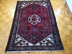 Authentic hand made rug 5 - 5 ft x 3 - 2 ft