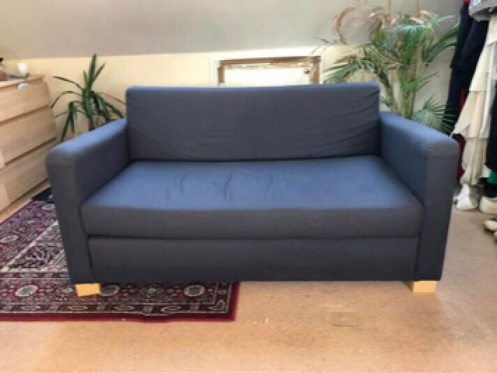 Free Delivery Ikea Solsta Grey Blue Sofa Bed Good Condition