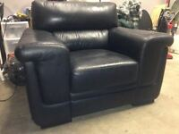 Black Leather CHAIR   -  delivery