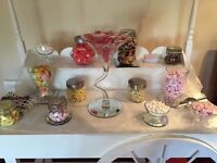 Beautiful Sweet Cart for hire in the London area. DIY or fully stocked starting from only £80!