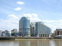 Stunning 2 Bed, 2 Bath Flat With River Views & Parking Incl In Bridges Wharf Development Must See