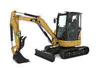2007 304 CAT MIDI EXCAVATOR WITH THUMB FOR RENT