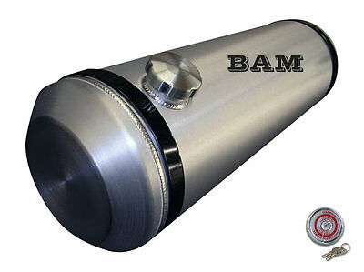 10x36 End Fill Spun Aluminum Gas Tank - 12 Gallon  - with Locking Gas Cap